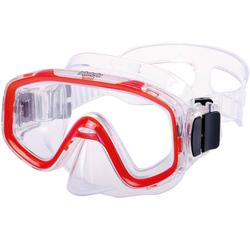 AQUAZON Taucherbrille AQUAZON FUN Junior Kids Schnorchelbrille, Taucherbrille, Schwimmbrille, Tauchmaske für Kinder, von 3-7 Jahren, sehr robust, tolle Paßform rot