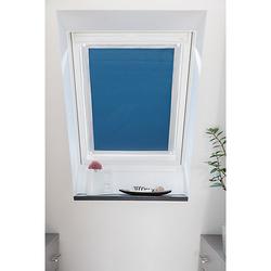 Dachfenster Sonnenschutz Haftfix, ohne Bohren Rollos blau Gr. 59 x 96,9