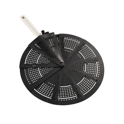 Leifheit Spritzschutzdeckel, faltbar schwarz Zubehör für Pfannen Haushaltswaren Spritzschutzdeckel