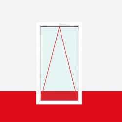 Kipp Fenster Delta 1 flg. Kipp Kunststofffenster (ohne Dreh)