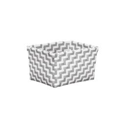 Kleine Wolke Aufbewahrungsbox Double Laundry in platin, 12 x 16,5 x 20 cm