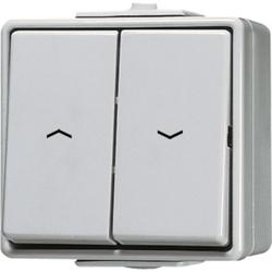 Jung 609VW,Jalousie-Wippschalter, Schalter 1-pol. (1Antrieb), AX 250 V ~, IP44, WG600