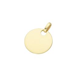 Luigi Merano Kettenanhänger Gravurplatte zum gravieren, Gold 375