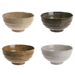 HKliving Japanische Keramikschalen 4er-Set