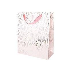 Geschenktüte, Zweige, Rosa, FSC Mix