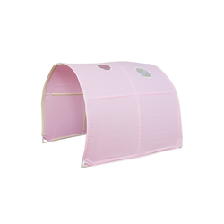 Homestyle4u Betttunnel, Tunnel Zelt Bettzelt Bettdach Spieltunnel rosa