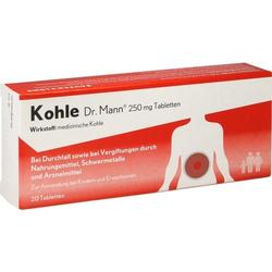 KOHLE Dr.Mann 250 mg Tabletten 20 St.