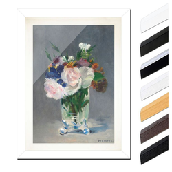 Bilderdepot24 Wandbild, Édouard Manet - Blumen in einer Kristallvase bunt 30 cm x 40 cm