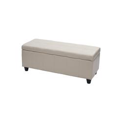 MCW Truhe Kriens, Mit praktischem aufklappbaren Deckel, Gepolsterte Sitzfläche, Integriertes Aufbewahrungsfach natur