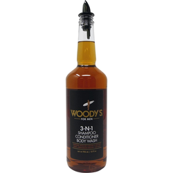 Woody's 3-in-1 Shampoo Conditioner Body Wash
