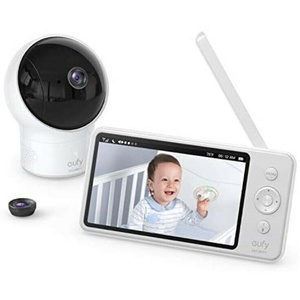 eufy Security SpaceView Babyphone, 5 Zoll LCD-Display, 720 HD, 140M Reichweite,