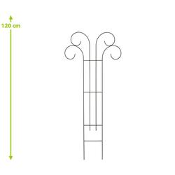 Dehner Rankhilfe Rankspalier V, ca. 100 x 50 cm, Metall/Kunststoff