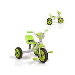 Moni Dreirad Dreirad Felix, mit EVA-Reifen, Melodien, Vorderlicht ab 3 Jahre grün