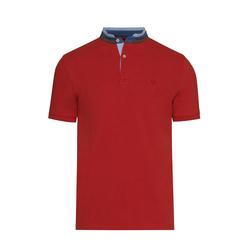 Lavard Rotes Herren-Poloshirt mit Stehkragen 72894