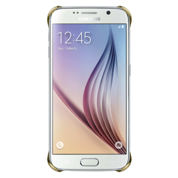 "Samsung Handycover ""Clear Cover"" [gold, für Galaxy S6]"