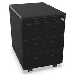 Palmberg Rollcontainer ORGA PLUS 1-3-3-3 schwarz mit Griffen schwarz