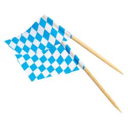 NATURESTAR Flaggenpicker, 100% kompostierbarer Flaggenstocher aus Birkenholz mit Fähnchen aus Papier, 1 Packung = 200 Stück, Bayern