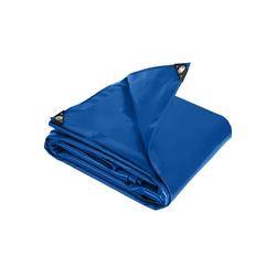 tectake Schutzplane Abdeckplane, wasserdicht blau 3 x 4 m