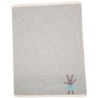 David Fussenegger Babydecke Hase Stick grau 70 x 90