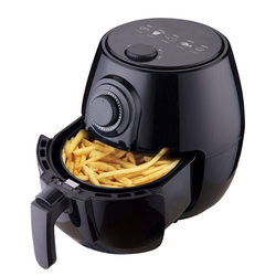 DESKI Heissluftfritteuse, 1400 W, Heißluft Fritteuse 3,5L 1400W Fettfrei Airfryer Küchenmaschine Friteuse schwarz