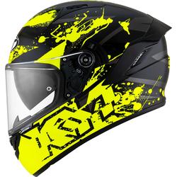 KYT NF-R Neutron Helm, schwarz-gelb, Größe XL