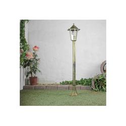 Licht-Erlebnisse Außen-Stehlampe PARIS Wegeleuchte Gold antik rustikal Gartenlaterne Stehlampe Hof Lampe