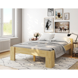 bv-vertrieb Bett erhöhtes Bett, erhöhtes Doppelbett 160x200 Ehebett Buche Senioren-Komfortbett - (4126) 168 cm x 208 cm x 49 cm