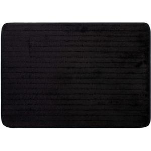 Brandsseller Mikrofaser Badmatte 50x70 cm Home Badteppich Badewannenvorleger Duschvorleger 100% Polyester Schwarz