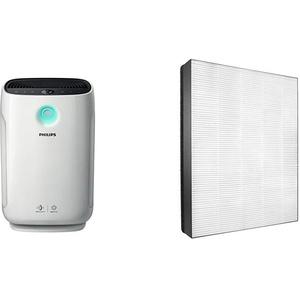 Philips AC2889/10 Luftreiniger Connected (für Allergiker und Raucher, 79m2, CADR 333m3/h, AeraSense Sensor) weiß & NanoProtect HEPA-Filter (für Philips Luftreiniger AC2889, AC2887, AC2882, AC3829/10)