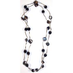Guru-Shop Perlenkette Modeschmuck, Boho Perlenkette - Modell 12
