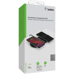 Belkin 2x 10W Dual Wireless Charging Pad mit Netzteil Wireless Charger schwarz