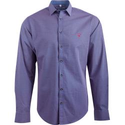 Gweih&Silk Herren Hemd GS07-172 mit blau-rotem Muster, Größe: S