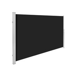 tectake Seitenarmmarkise Aluminium Seitenmarkise schwarz 180.0 cm