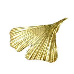Gallay Kettenanhänger Anhänger 20mm Ginkgoblatt glänzend 9Kt GOLD (inkl. Schmuckbox), Goldschmuck für Damen