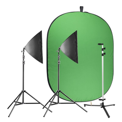 Walimex Pro Video Greenscreen Set Einsteiger