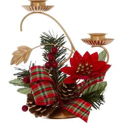 Kerzenhalter (Set, 2 Stück), inkl. winterlicher Dekoration
