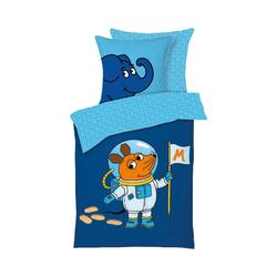 Bettwäsche Bettwäsche DIE MAUS - Astronaut, 135 x 200 + 80 x, Die Maus blau