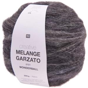Rico Creative Melange Garzato Aran Wonderball Fabe 8, Farbverlaufswolle Nadelstärke 5 mm zum Stricken oder Häkeln, Wolle 200g Knäuel