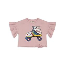 Panco T-Shirt T-Shirt - mit Rollschuhmotiv - für Mädchen 104