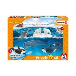Schmidt Spiele Puzzle Puzzle Schleich Wild Life inkl. Schleich-Figur -, Puzzleteile