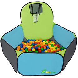 Kinder Pop Up Bällepool - Bällebad Ballpool Blau mehrfarbig