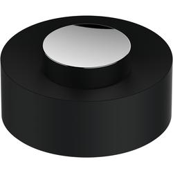 Keuco Plan Kunststoff-Deckel 04989170137 lose, Deckel schwarzgrau, Griff Aluminium lackiert