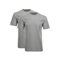 RAGMAN Unterhemd Herren T-Shirt 2er Pack - 1/2 Arm, Unterhemd, grau 5XL