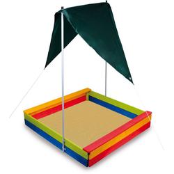 Small Foot Sandkasten Sandkasten mit Sonnensegel, 117x117x20,5 cm