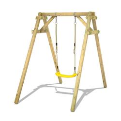 Wickey Einzelschaukel Schaukelgestell Smart One - Schaukel, Schaukelgerüst, Kinderschaukel, Holzschaukel gelb