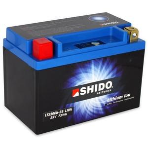 Batterie Shido Lithium LTX20CH-BS / YTX20CH-BS, 12V/18AH (Maße: 150x87x161) für Moto Guzzi Breva 1100 ABS Baujahr 2008