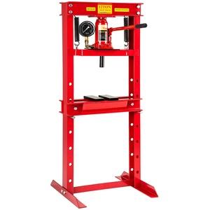 TecTake Werkstattpresse Hydraulikpresse pneumatisch mit Manometer | Gewicht: 60kg - Diverse Modelle (12 Tonnen | Nr. 401670)