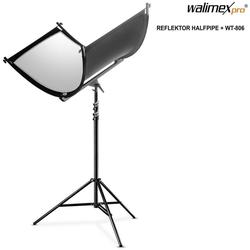 walimex Kamerazubehör-Set pro Reflektor Halfpipe + WT-806 Stativ