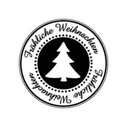 Rayher Fröhliche Weihnachten Motivstempel Weihnachtsbaum