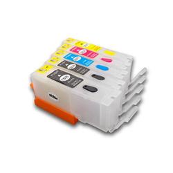 vhbw CISS Leer Patronen Set B/PB/C/M/Y mit Chip für Drucker wie Canon PGI-570BK, CLI-571C, CLI-571M, CLI-571Y, CLI-571PB